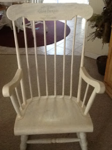 Annie Sloan Rocking Chair with history