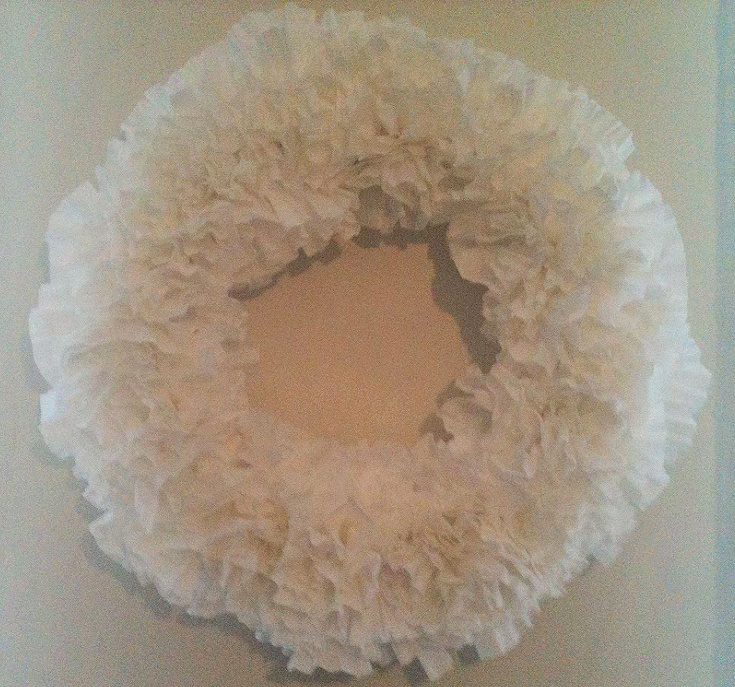 coffee filter close up wreath
