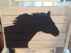 horse silhouette pallet art