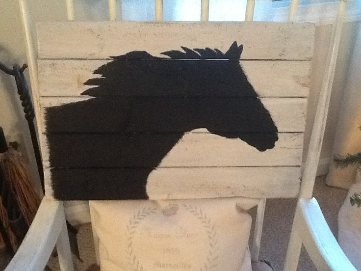 horse silhouette pallet