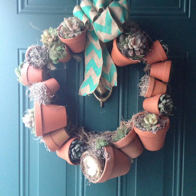 DIY CLAY POT WREATH