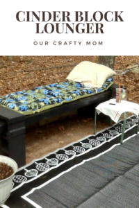 DIY Cinder Block Lounger Our Crafty Mom