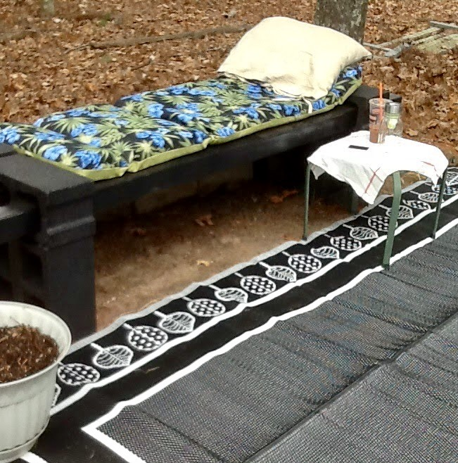 Cinder Block Bench Our Crafty Mom