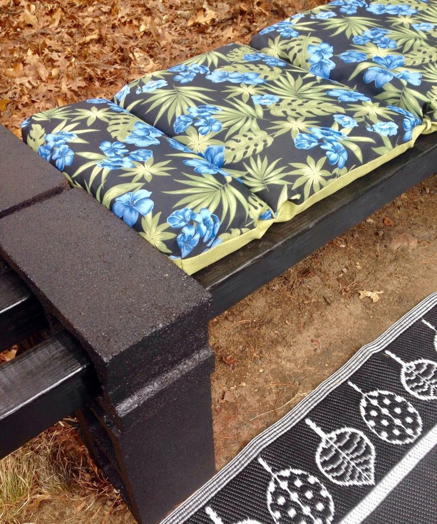 DIY Cinder Block Lounger Our Crafty Mom