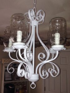 Make Over  A Chandelier With Mason Jars