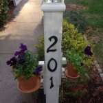 Solar Light Garden Post