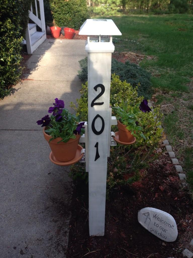 Solar Light Garden Post