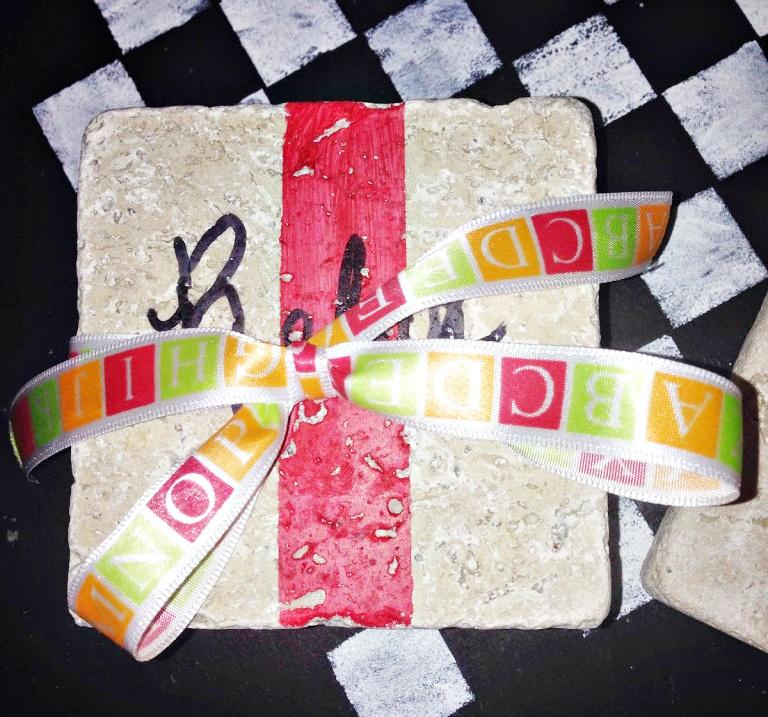 stone tile coasters DIY