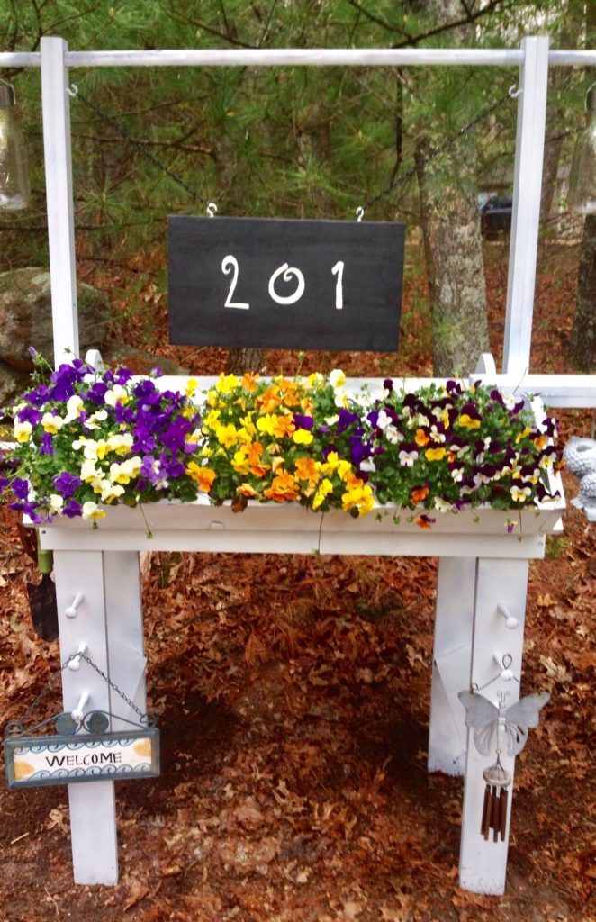 Flower Stand House Number Sign Our Crafty Mom