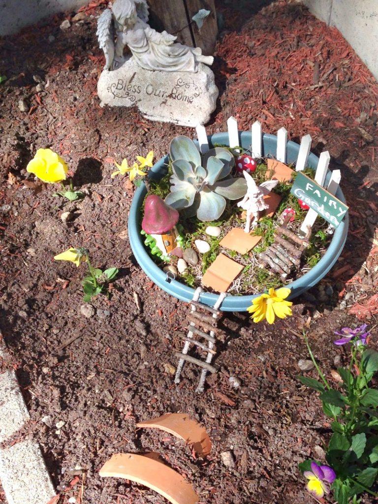 fairy garden clay pots