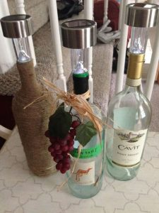 wine bottle solar lights