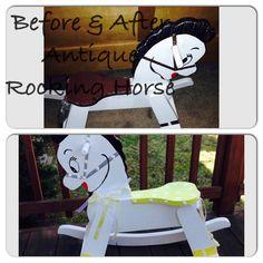 painted antique rocking horse