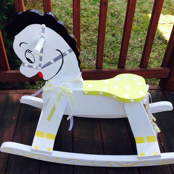 antique painted rocking horse
