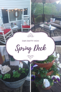 Spring Decorating On The Deck Our Crafty Mom