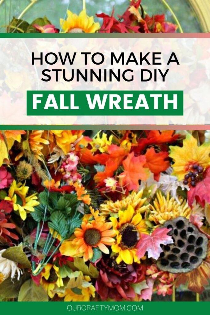 diy large fall wreath