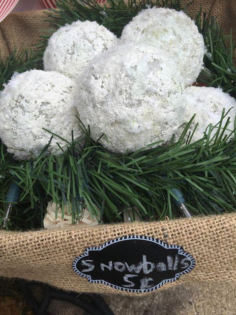 Faux snowballs