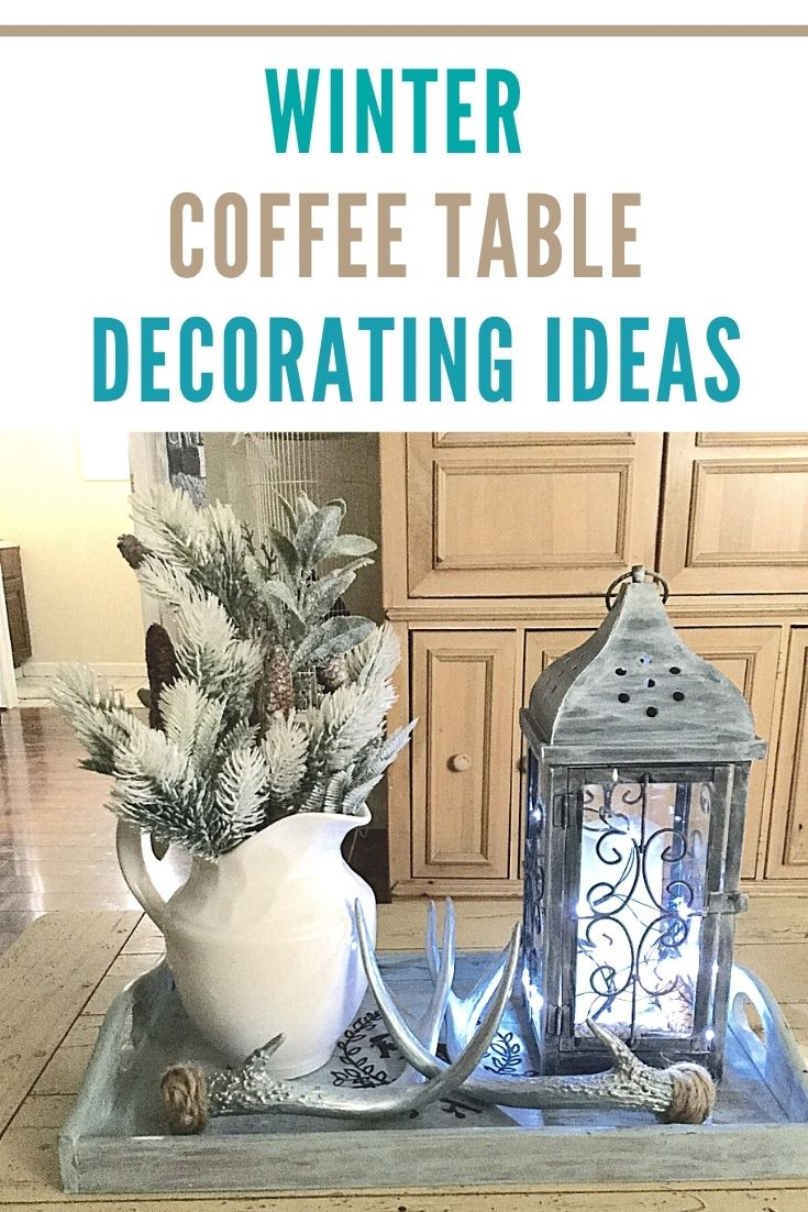 winter coffee table decorating ideas