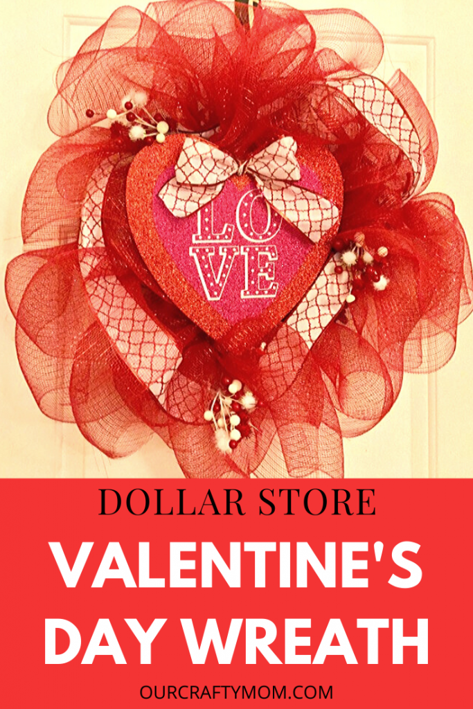 valentine's day wreath dollar store