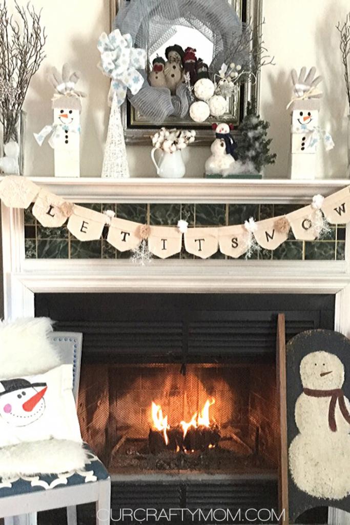 snowman mantel