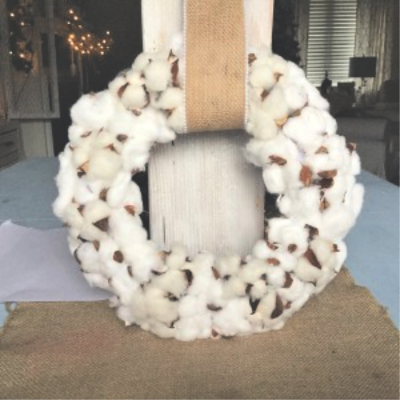 cotton wreath update