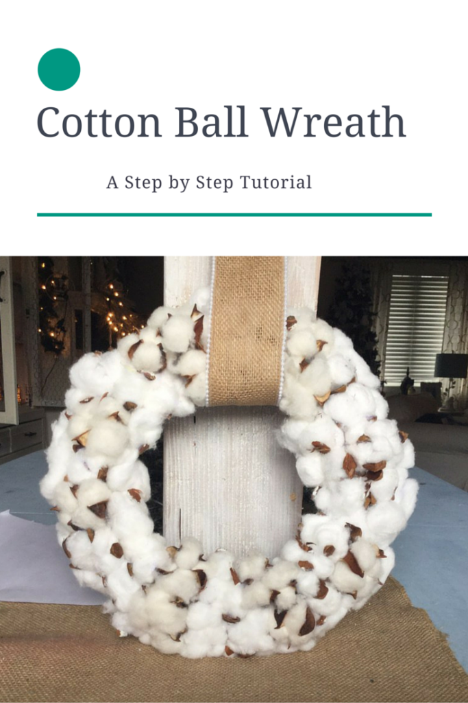 DIY Cotton Ball Wreath Tutorial