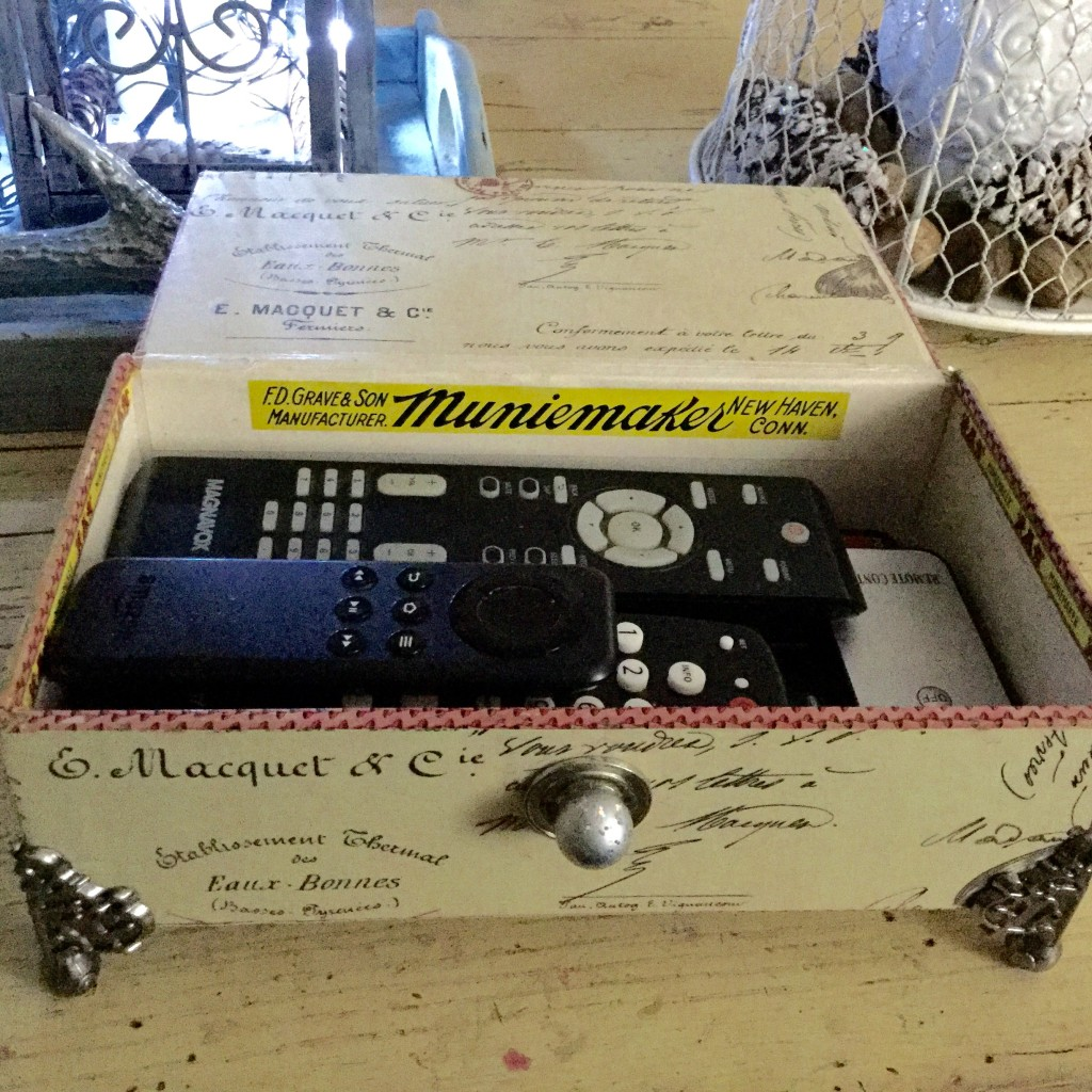 cigar box for remotes