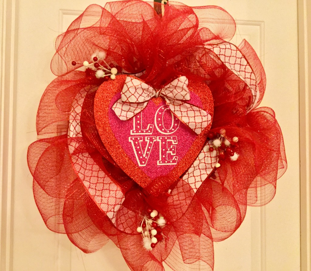 Valentine S Day Dollar Tree Deco Mesh Wreath Our Crafty Mom