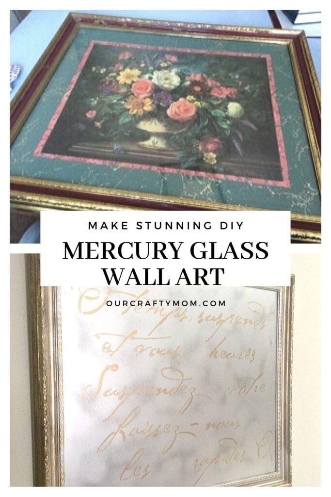 thrift store diy mercury glass wall art