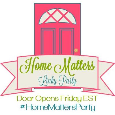 Come join the fun and link your blog posts at the Home Matters Linky Party 153. Find inspiration recipes, decor, crafts, organize -- Door Opens Friday EST.