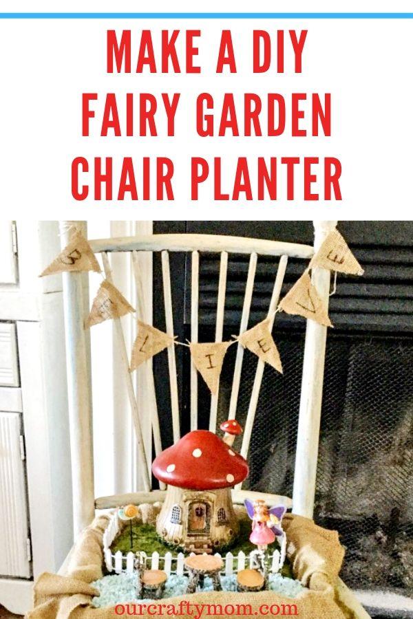 make a diy fairy garden chair planter