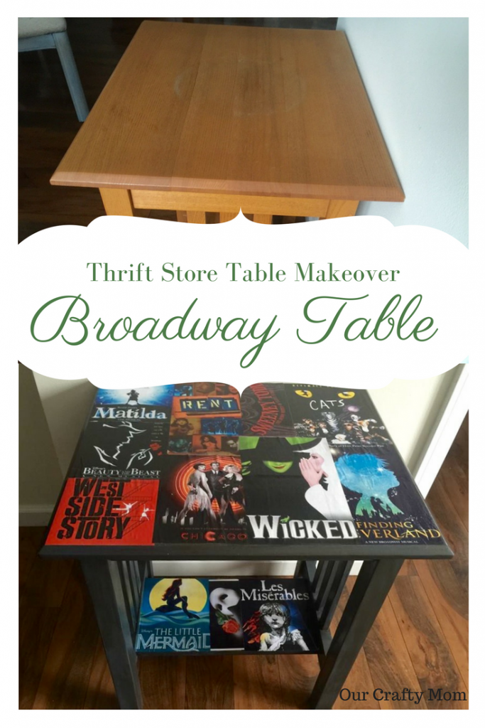 Thrift Store Table Makeover I Love Broadway Our Crafty Mom