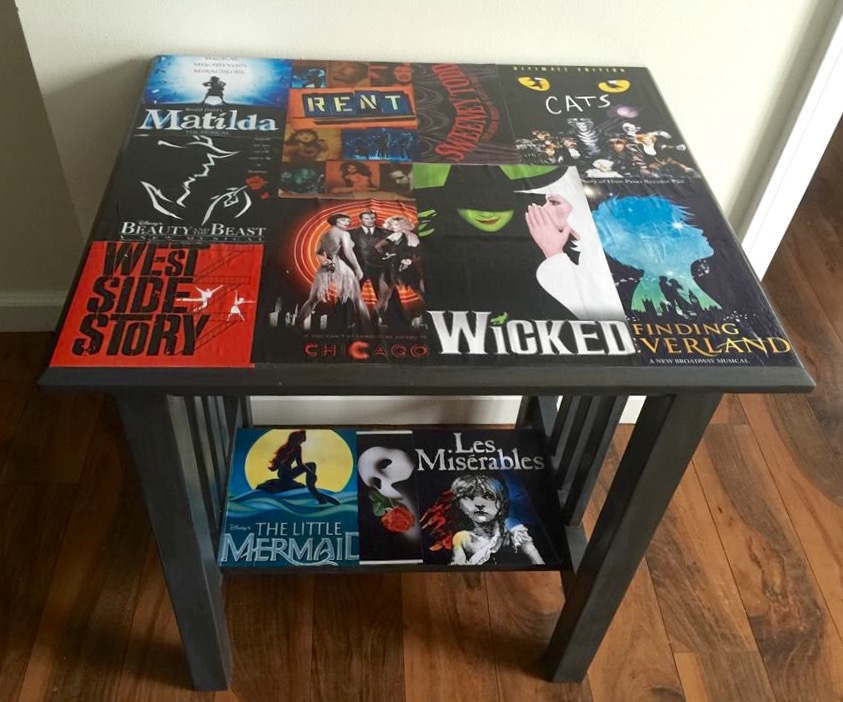I Love Broadway Table Our Crafty Mom