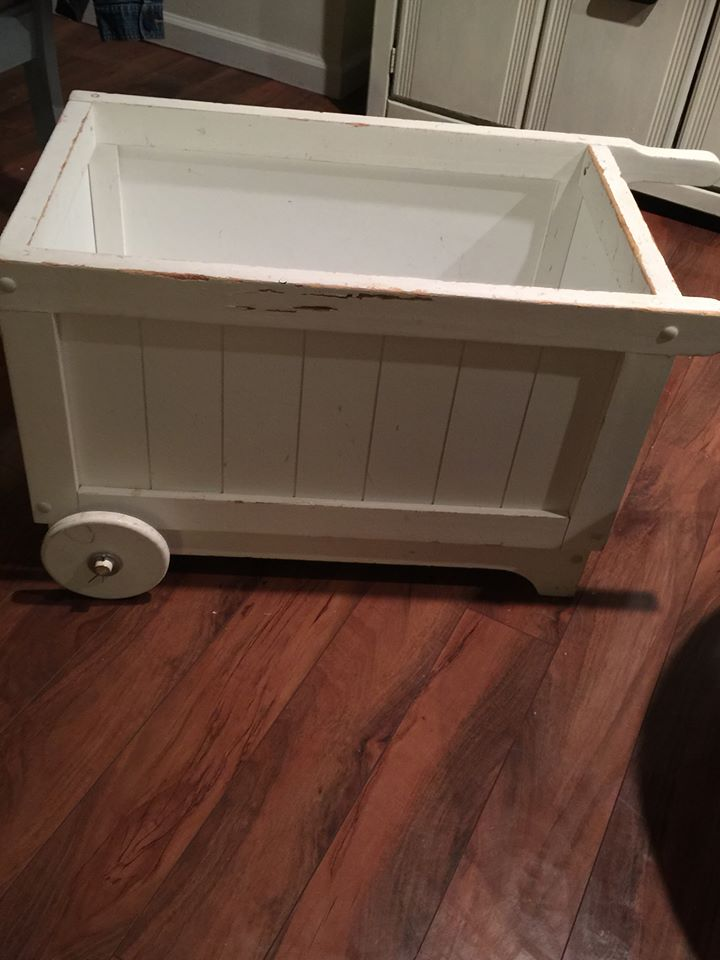 Garden Cart Turned Chalkboard Cooler
