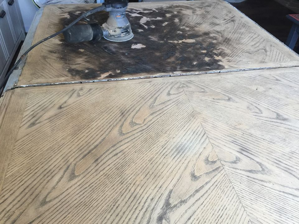 DIY Restoration hardware weathered oak