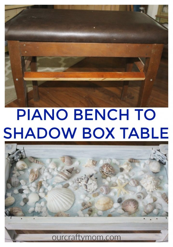 Piano bench to shadow box
