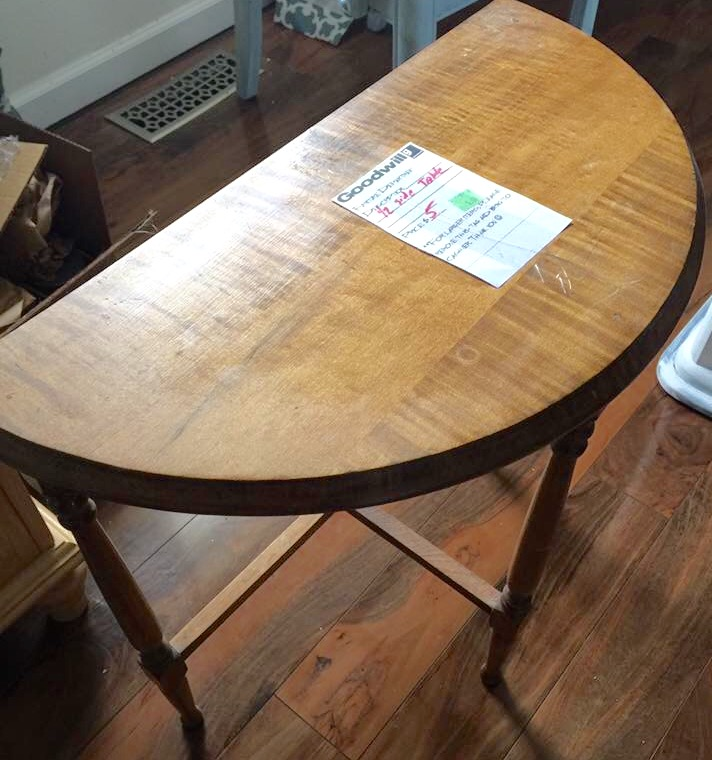 Thrift store half table
