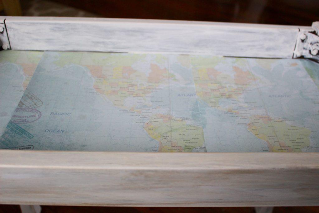 Sea shell shadow Box Table