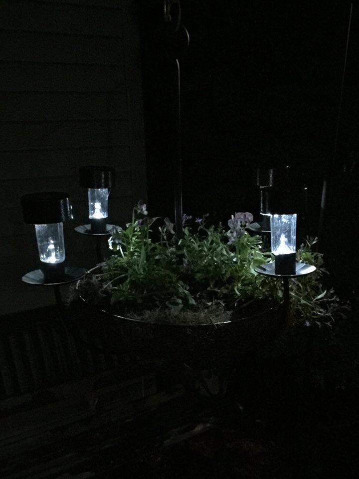 DIY Solar Chandelier Planter