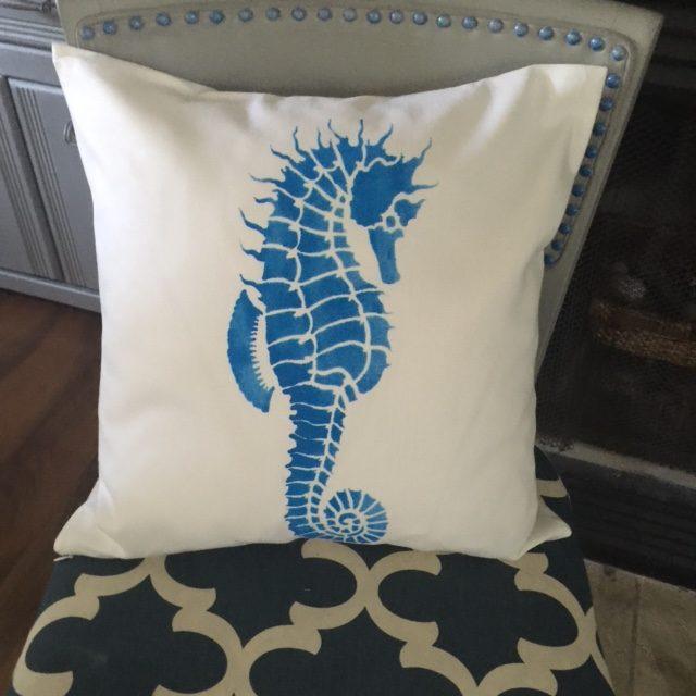 DIY Seahorse Pillow