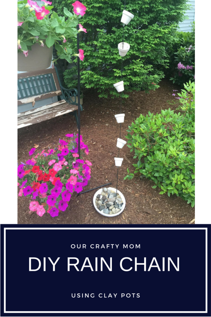 DIY Clay Pot Rain Chain Our Crafty Mom