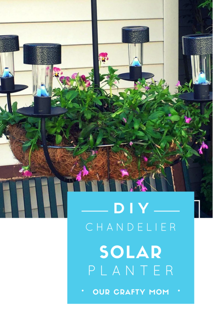 DIY SOLAR CHANDELIER PLANTER