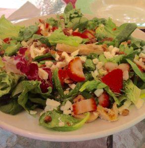 Strawberry & Feta Spinach Salad