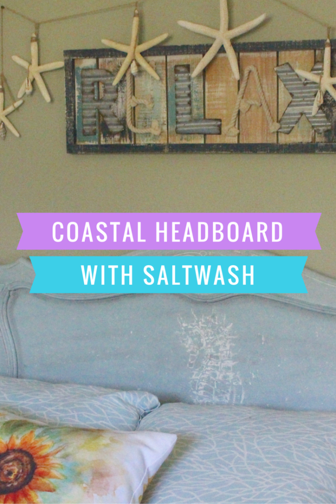 Saltwash Coastal Headboard Makeover
