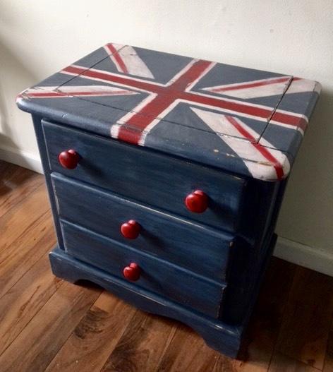 Union Jack nightstand