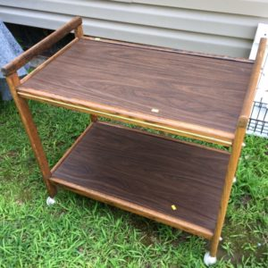 Thrift Store Decor Upcycle-Rolling Bar Cart