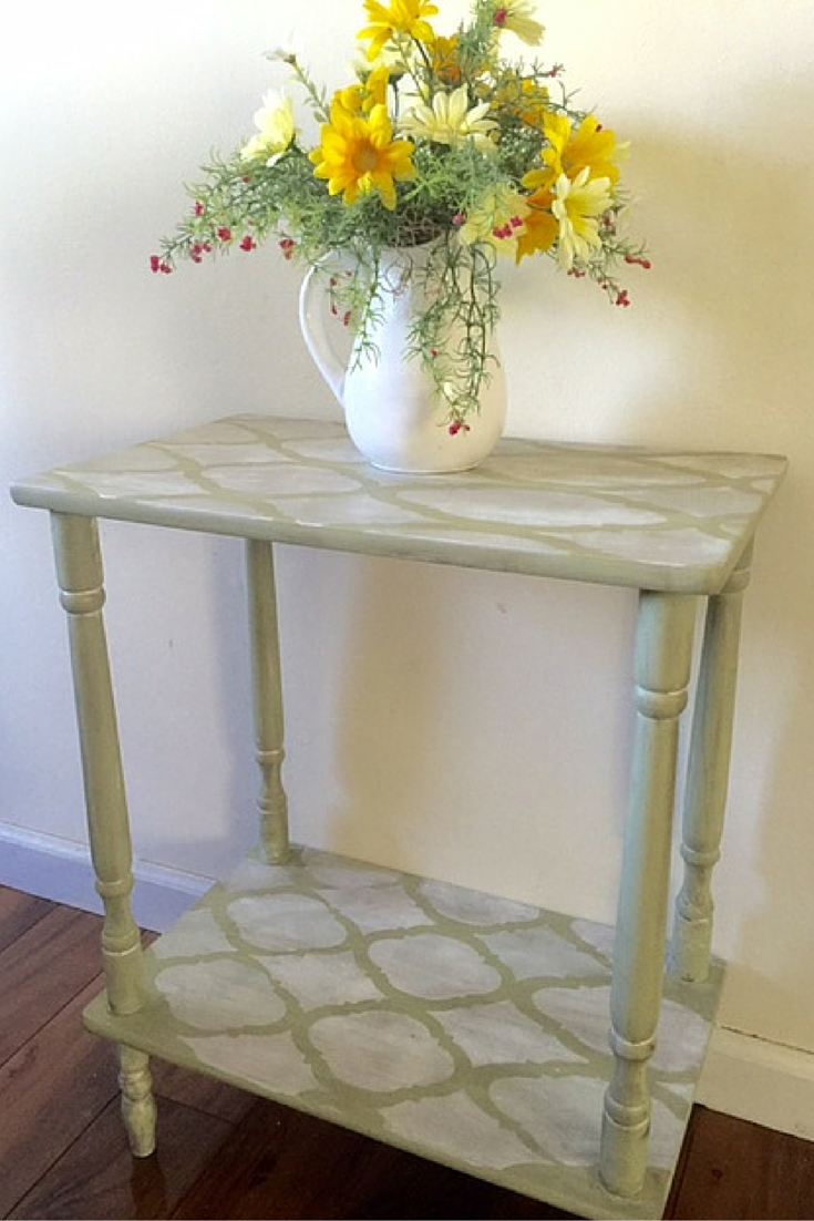 Stenciled End Table