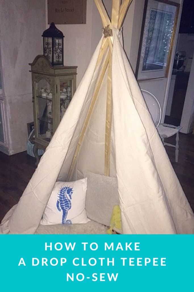DIY_Drop_Cloth_Teepee