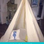 DIY NO-SEW DROP CLOTH TEEPEE