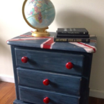 Old Fashioned Milk Paint Union Jack Nightstand