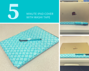 5 Minute ipad Cover Using Washi Tape